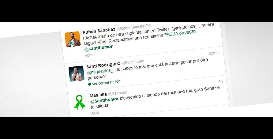Otra suplantación en Twitter: FACUA alerta de que @miguelrios__ no era Miguel Ríos