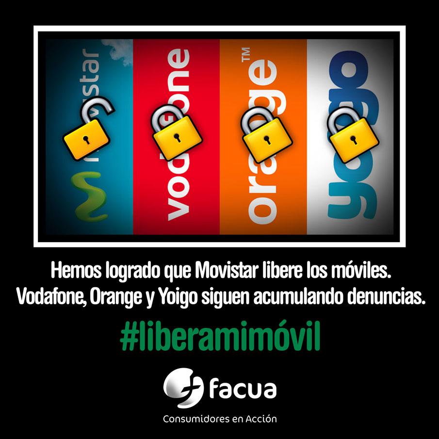 Logramos que Movistar libere los móviles. Ahora, vamos a por Vodafone, Orange y Yoigo #liberamimóvil