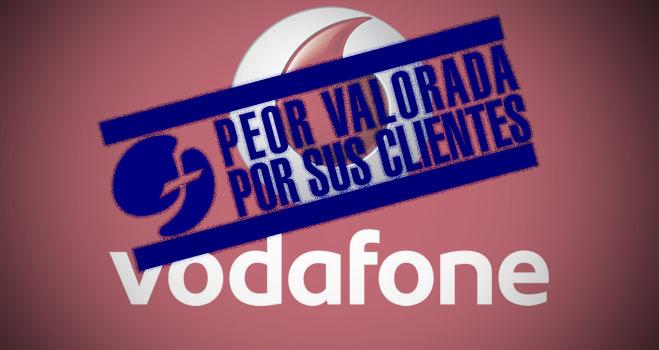 Vodafone repite como operador móvil peor valorado por sus clientes, según la #encuestamóvil 2013 de FACUA