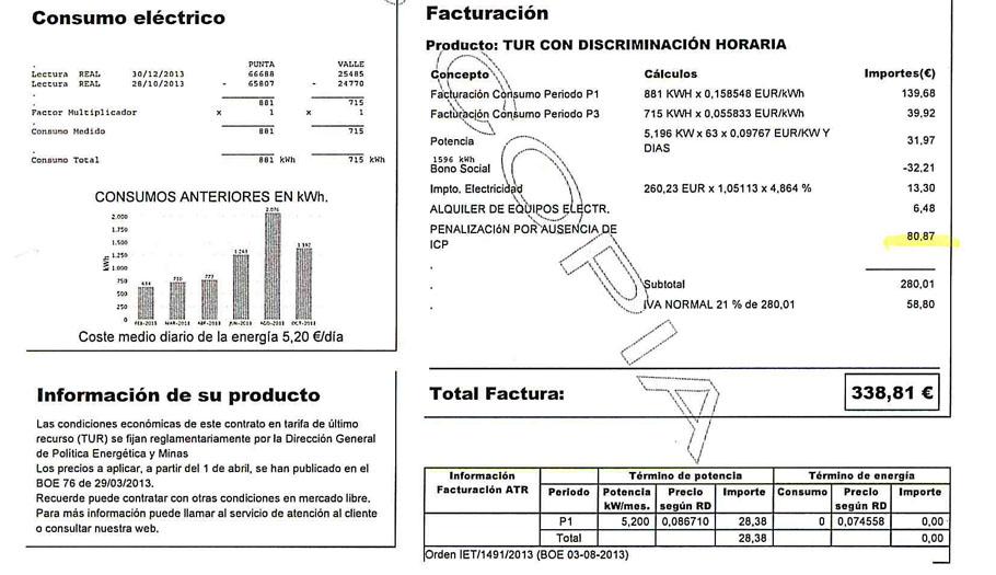 Endesa devuelve 1.000 euros a un socio de FACUA tras multarle ilegalmente un año y medio por no tener ICP