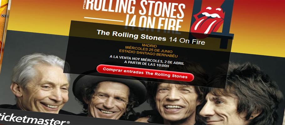 FACUA denuncia a Ticketmaster al ofertar entradas de The Rolling Stones a precios más bajos de los reales
