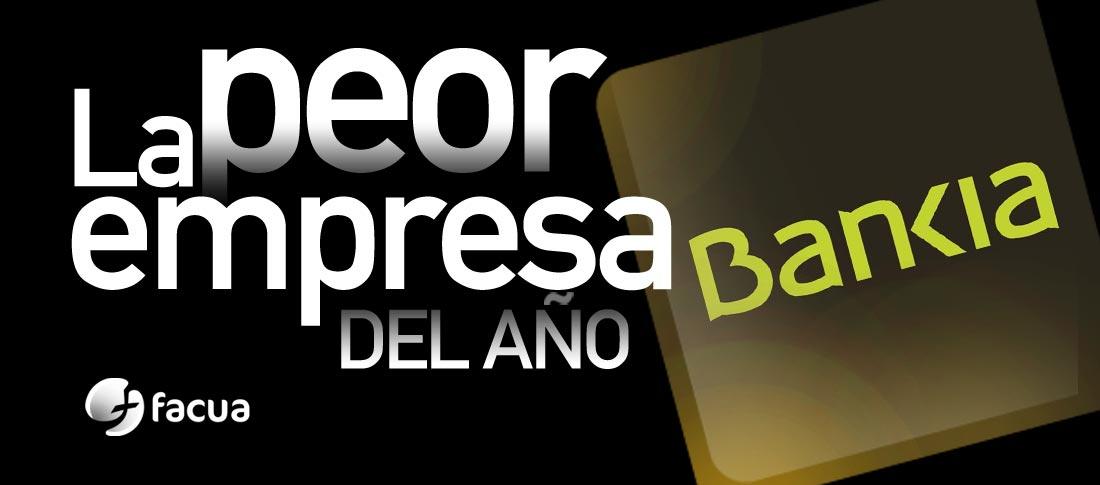 Bankia, elegida de nuevo por los consumidores como La Peor Empresa del Año