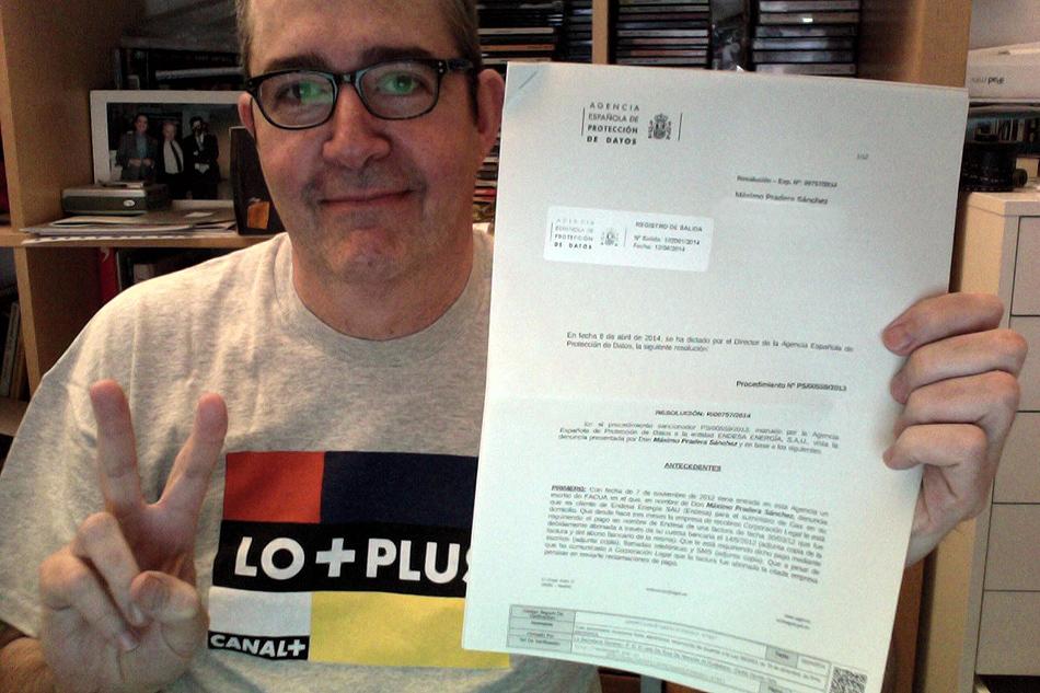 Multa de 20.000 euros a Endesa tras la denuncia de FACUA por acosar a su socio Máximo Pradera