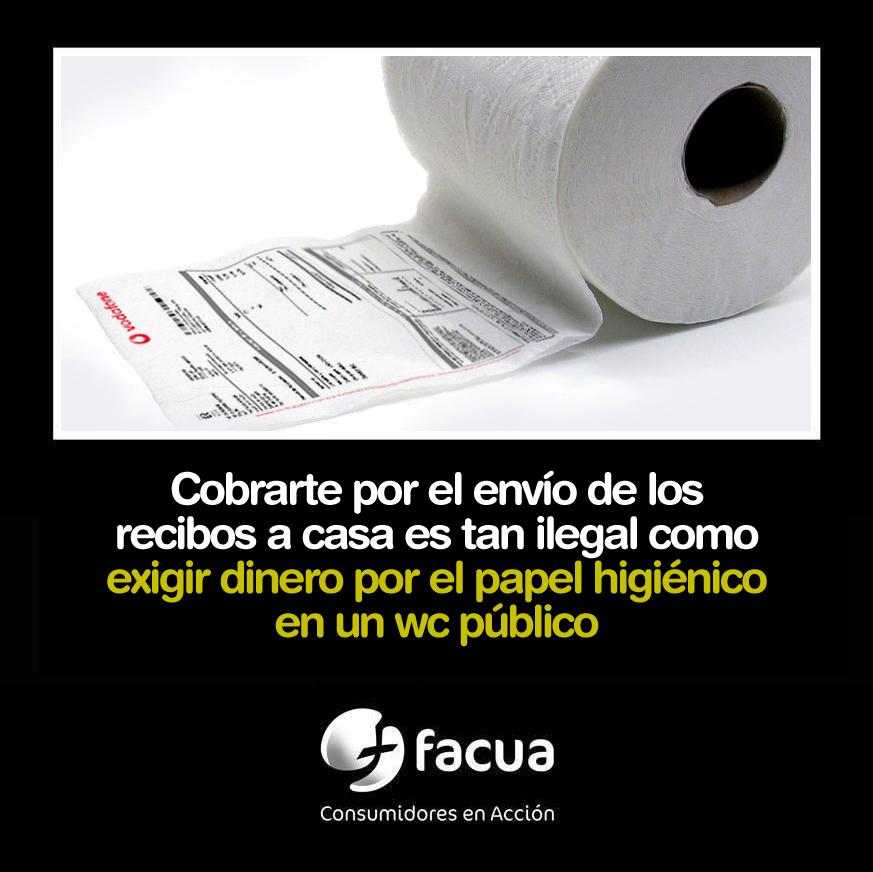 Cobrarte por el envío de los recibos a casa, tan ilegal como exigir dinero por el papel higiénico en un wc