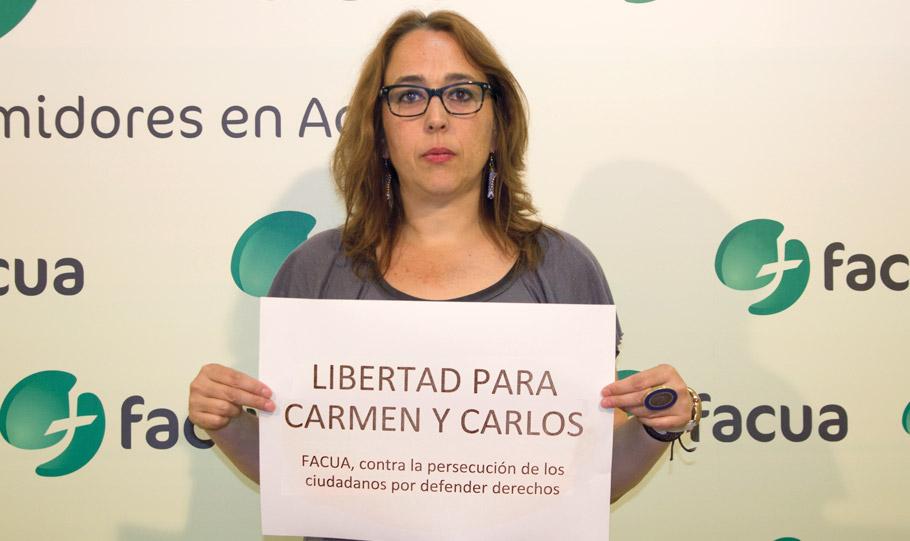 FACUA se suma a la petición de libertad para Carmen y Carlos y denuncia la persecución de las protestas