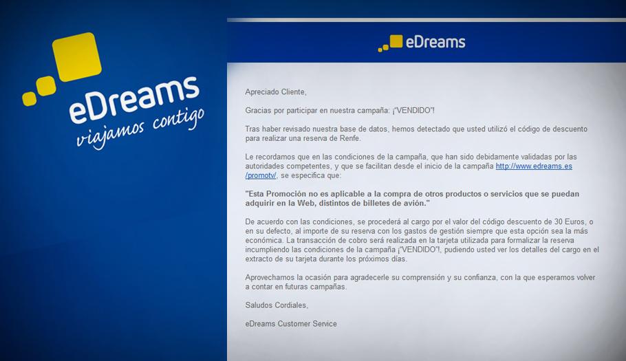 La movilización de usuarios por un error de eDreams al aplicar una oferta hace que la empresa rectifique