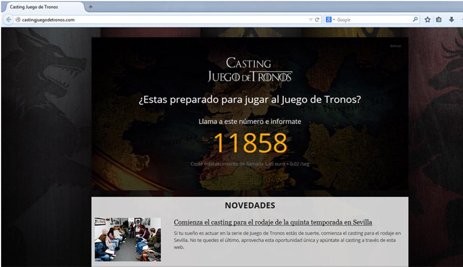 FACUA denuncia un fraude telefónico que usa como gancho el casting para la serie 'Juego de Tronos'