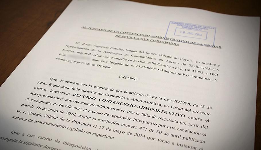 FACUA Sevilla lleva a los tribunales la ampliación de la zona azul impuesta por el Ayuntamiento