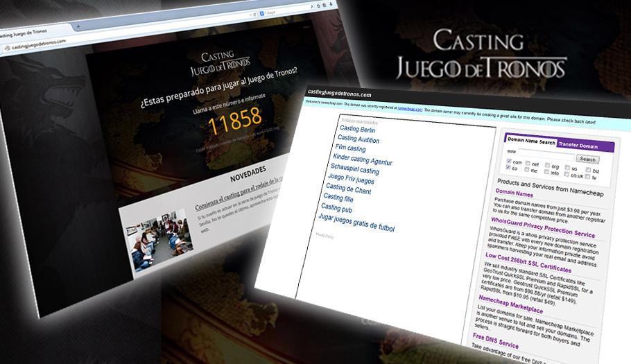 Eliminan la web fraudulenta denunciada por FACUA que ofrecía como gancho el casting de 'Juego de tronos'