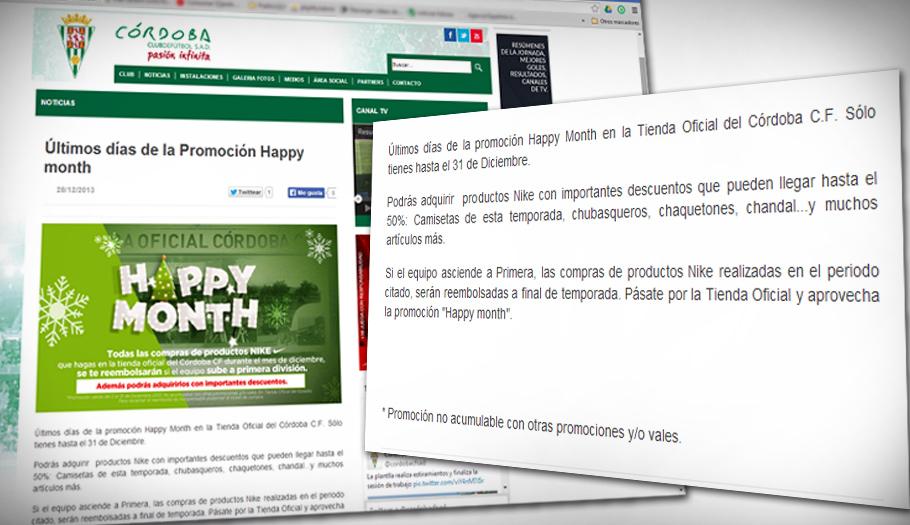 Tras la alerta de FACUA, el Córdoba CF reembolsa los productos Nike sujetos a la promoción que anunció