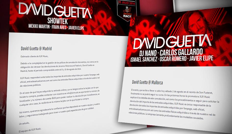 FACUA aconseja pedir indemnizaciones por los gastos causados al suspenderse dos conciertos de David Guetta