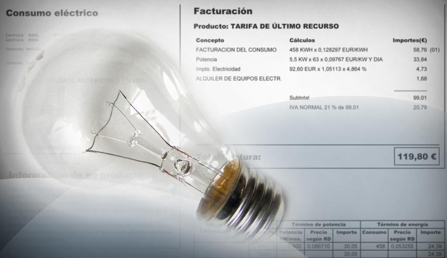 La luz en noviembre, un 12,4% más cara que en enero: ha subido 8,39 euros mensuales para el usuario medio