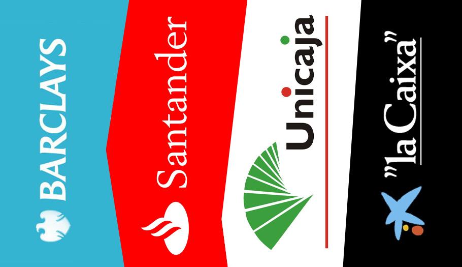 Análisis de FACUA: Barclays, Santander, Unicaja y La Caixa son los bancos con las comisiones más elevadas