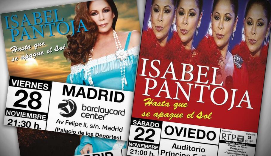 FACUA aconseja pedir el reembolso de los gastos causados al suspenderse los conciertos de Isabel Pantoja