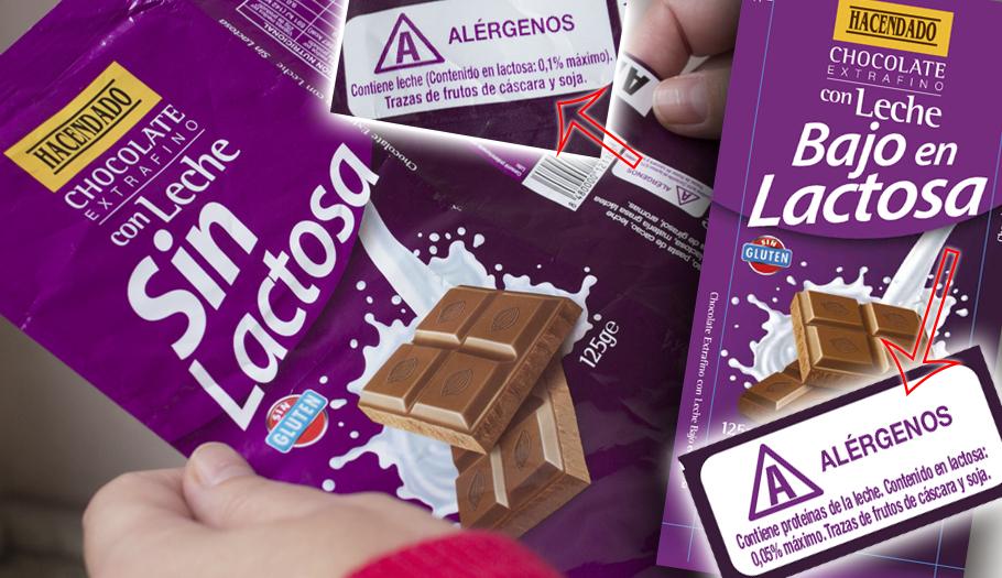 Mercadona cambia el etiquetado de su chocolate 'Sin lactosa' tras la intervención de FACUA