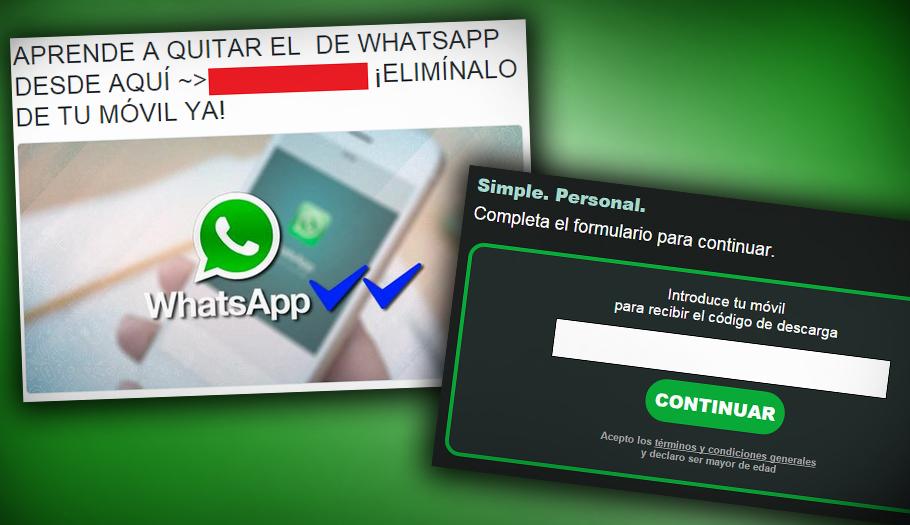 Advierten de un fraude que utiliza como reclamo el 'double check' azul de WhatsApp