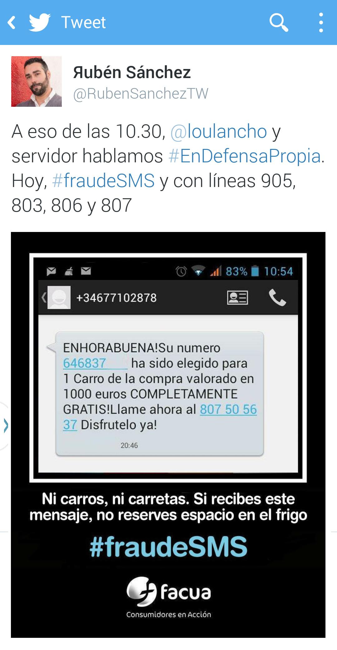 Twitter suspende la cuenta del portavoz de FACUA, @RubenSanchezTW, por informar de un fraude