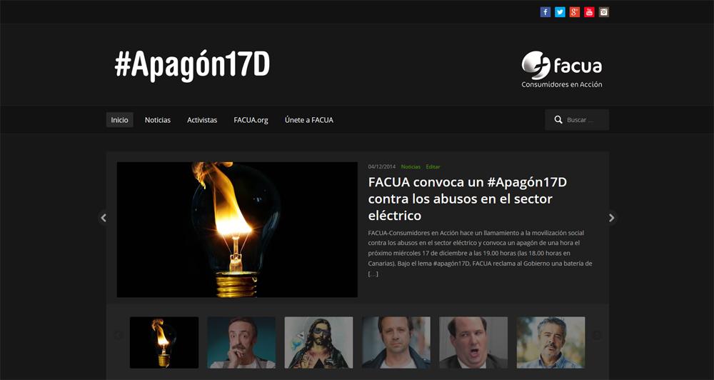 FACUA convoca un apagón el 17 de diciembre a las 19h contra los abusos en el sector eléctrico