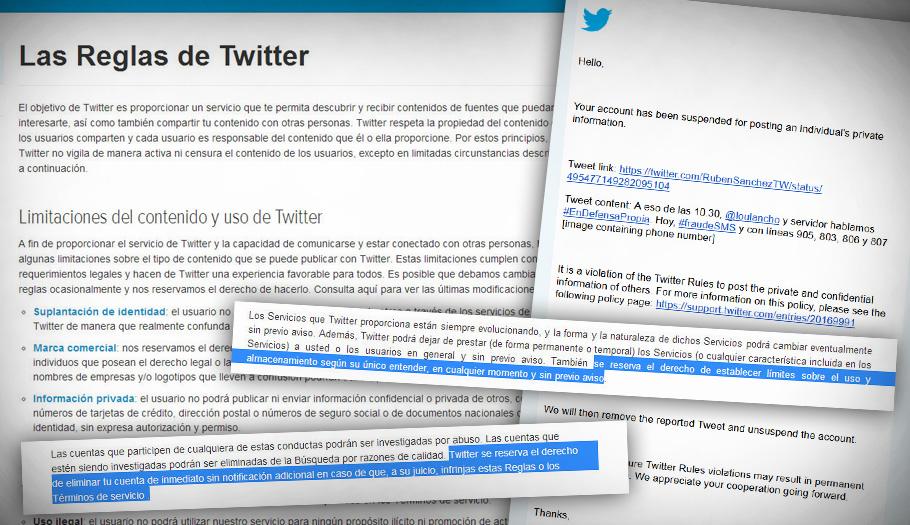 FACUA denuncia que las reglas de Twitter se saltan la legislación de defensa de los consumidores y la Constitución Española.