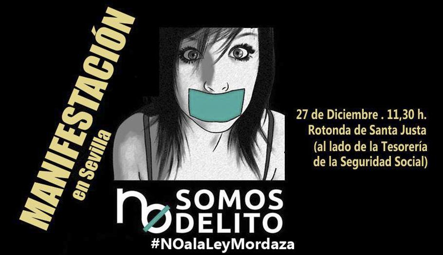 FACUA Sevilla se adhiere a la manifestación contra la 'ley mordaza' el 27 de diciembre