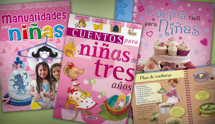 """Cocina, manualidades y cuentos """"para niñas"""": FACUA denuncia a Susaeta Ediciones por lanzar libros sexistas"""