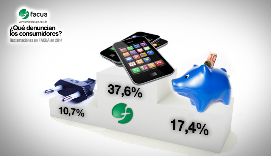 Telecomunicaciones, banca y energía son un año más los reyes del fraude en el 'ranking' de FACUA de 2014