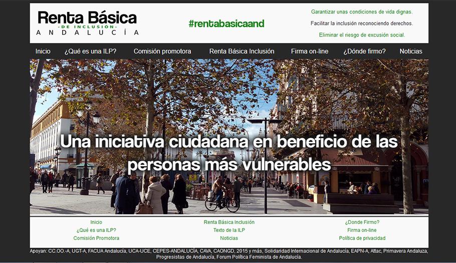Comienza la recogida de firmas para apoyar la Iniciativa por una renta básica de inclusión en Andalucía