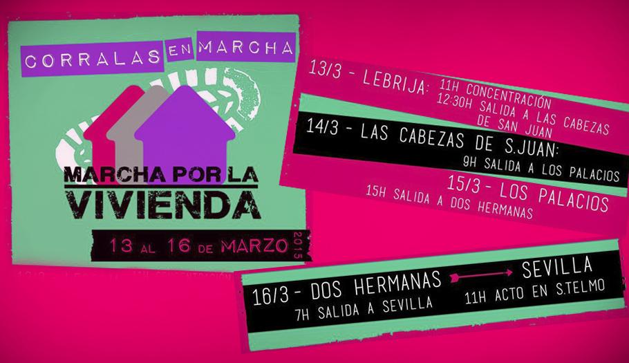 FACUA Andalucía suma su apoyo a la Marcha por la Vivienda Digna de las corralas