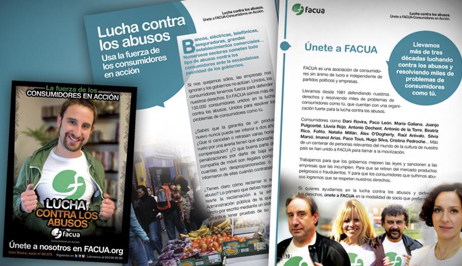 FACUA sale a la calle en catorce ciudades para llamar a los consumidores a la #luchacontralosabusos