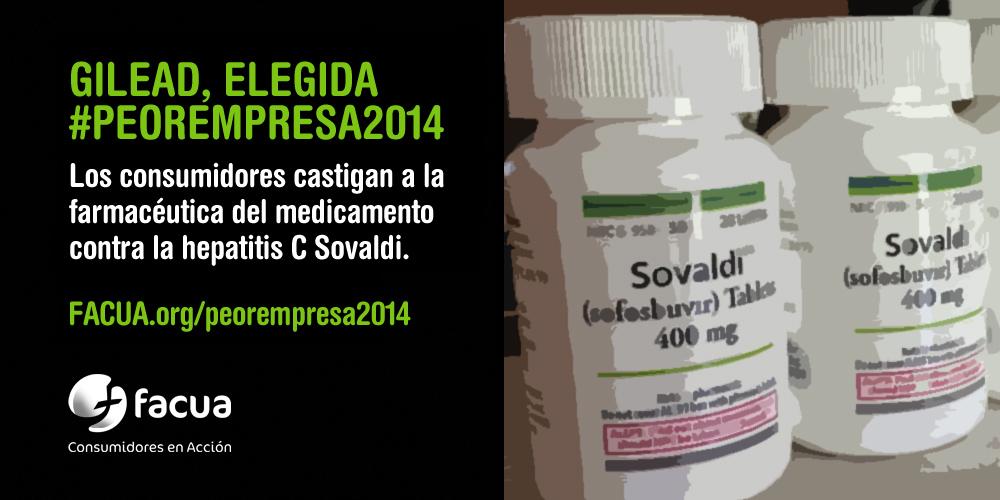 Y la #peorempresa2014 es... Gilead, el laboratorio del f�rmaco contra la hepatitis C Sovaldi