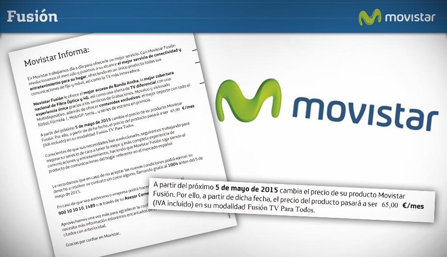 #fraudeMovistar FACUA inicia acciones contra la subida fraudulenta de las tarifas de Movistar Fusión