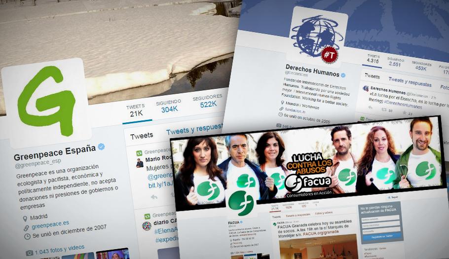 �stas son las 10 ONG espa�olas con m�s seguidores en Twitter