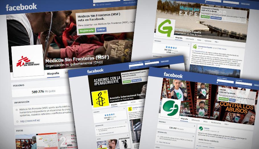 Éstas son las 10 ONG españolas con más seguidores en Facebook