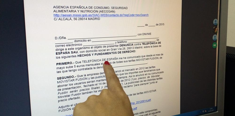 FACUA facilita a los usuarios un formulario para denunciar la subida de Movistar Fusión #fraudeMovistar
