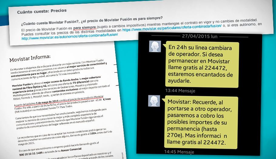 Telefónica amenaza con multas de hasta 270 euros al pedir la baja por la subida ilegal de Movistar Fusión