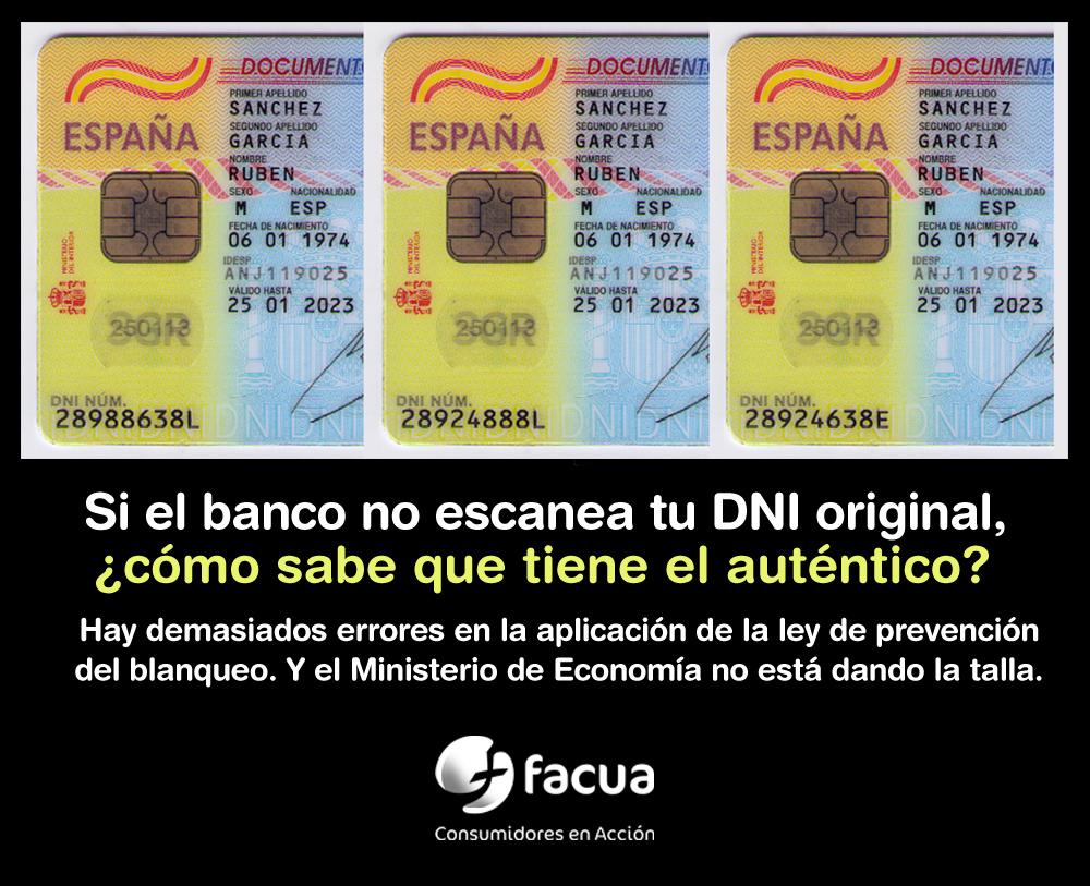 Si el banco no escanea tu DNI original, ¿cómo sabe que tiene el auténtico?