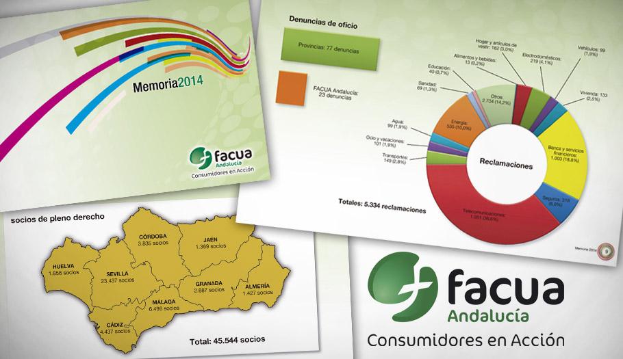 FACUA Andalucía publica su 'Memoria 2014'