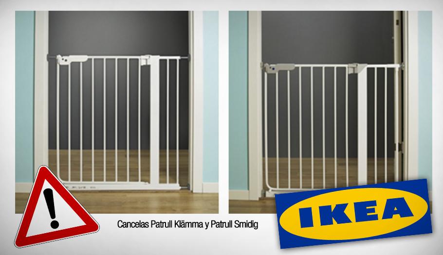 Ikea retira las cancelas Patrull Klämma y Patrull Smidig por riesgo de caídas