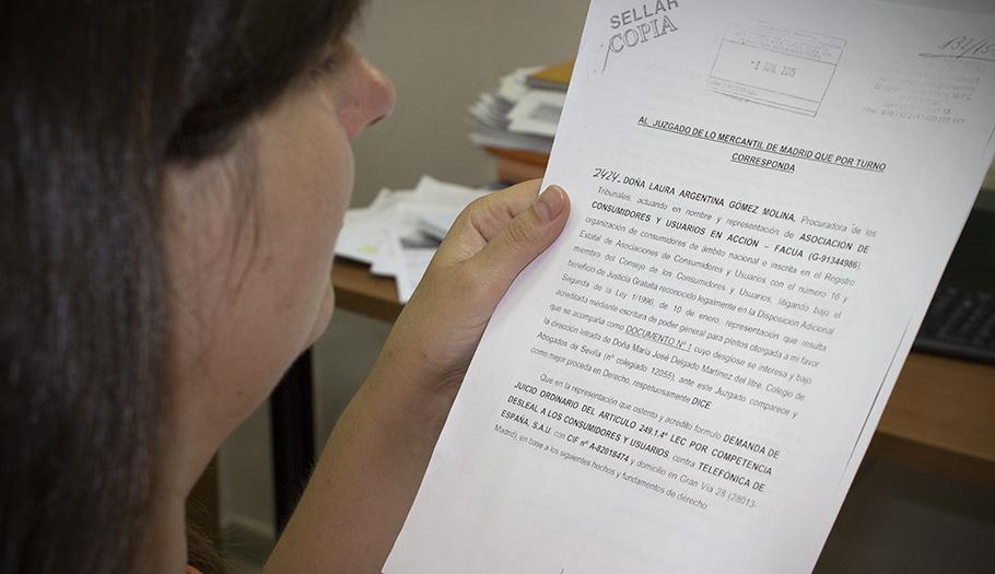 FACUA lleva a los tribunales a Telef�nica por la subida ilegal de Movistar Fusi�n