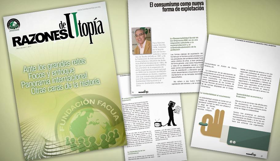 La Fundación FACUA publica la primera edición de su revista 'Razones de Utopía'