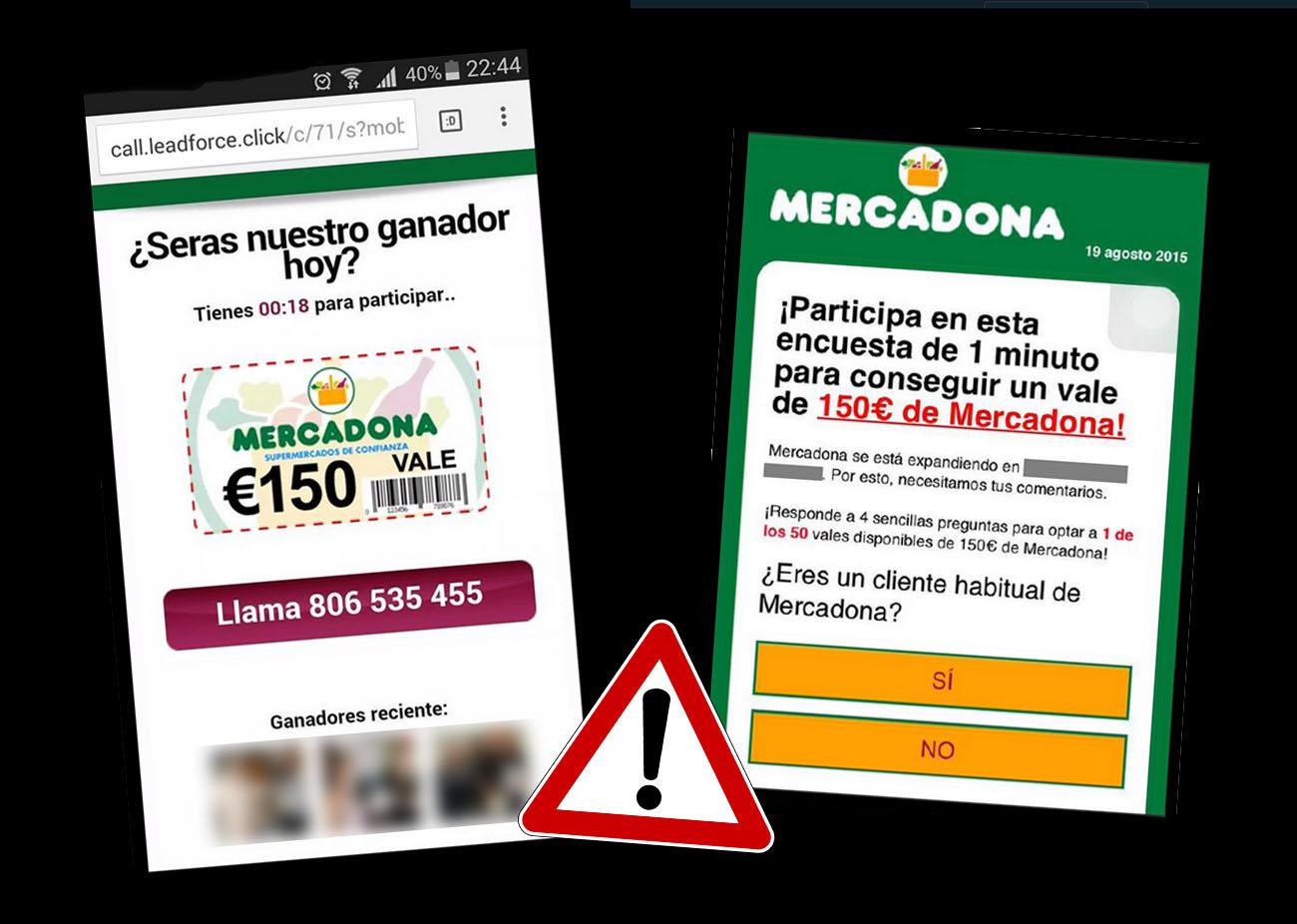 Se hacen pasar por Mercadona con un viral en WhatsApp para hacerse con datos personales