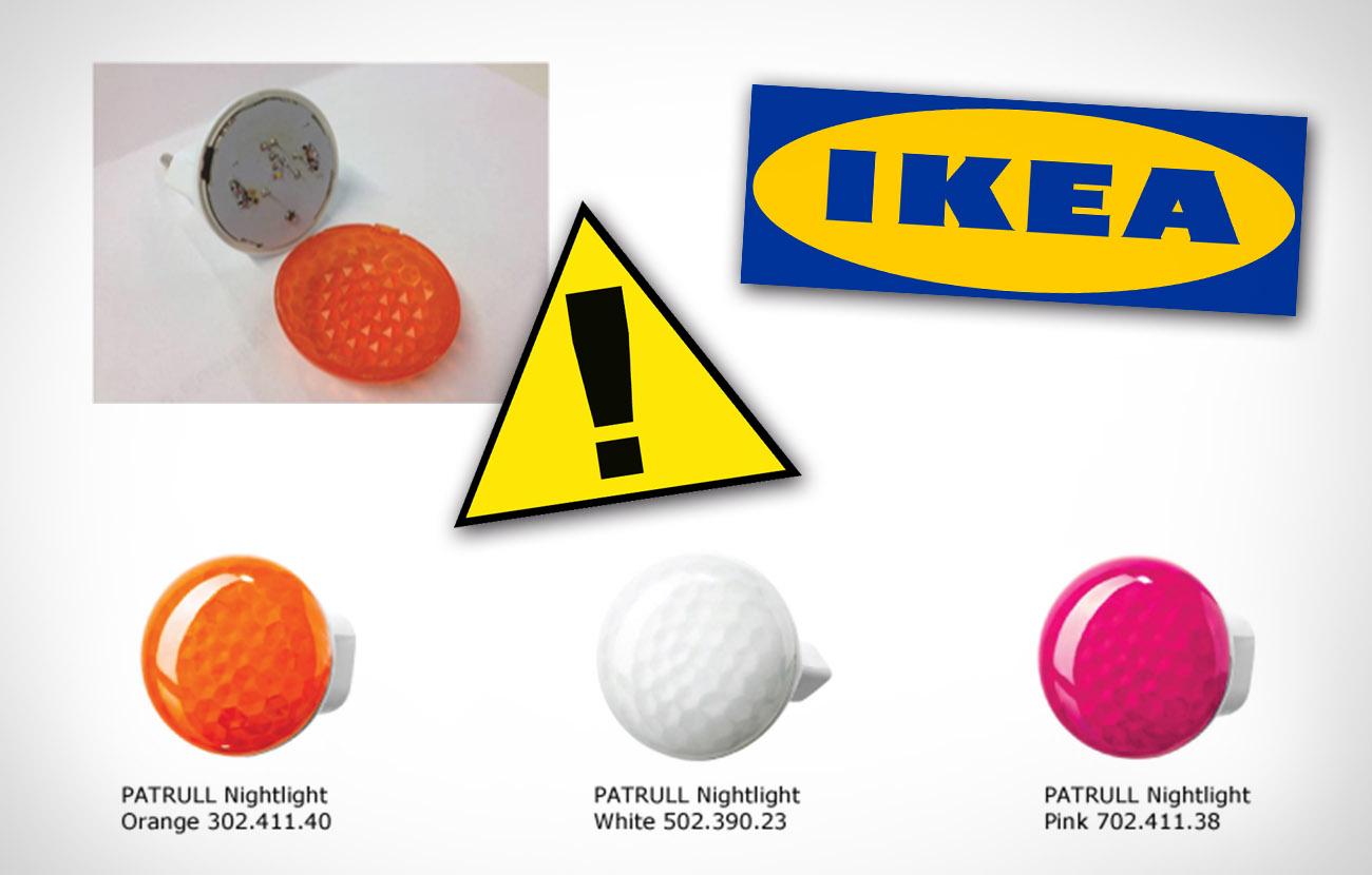 Ikea retira del mercado la luz nocturna Patrull por riesgo de accidente