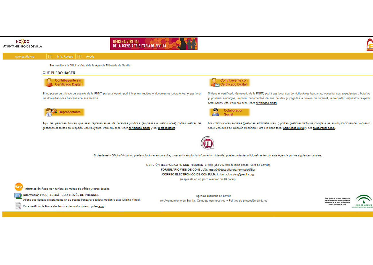 FACUA Sevilla denuncia ante Protección de Datos al Ayuntamiento y la empresa que gestiona la web municipal