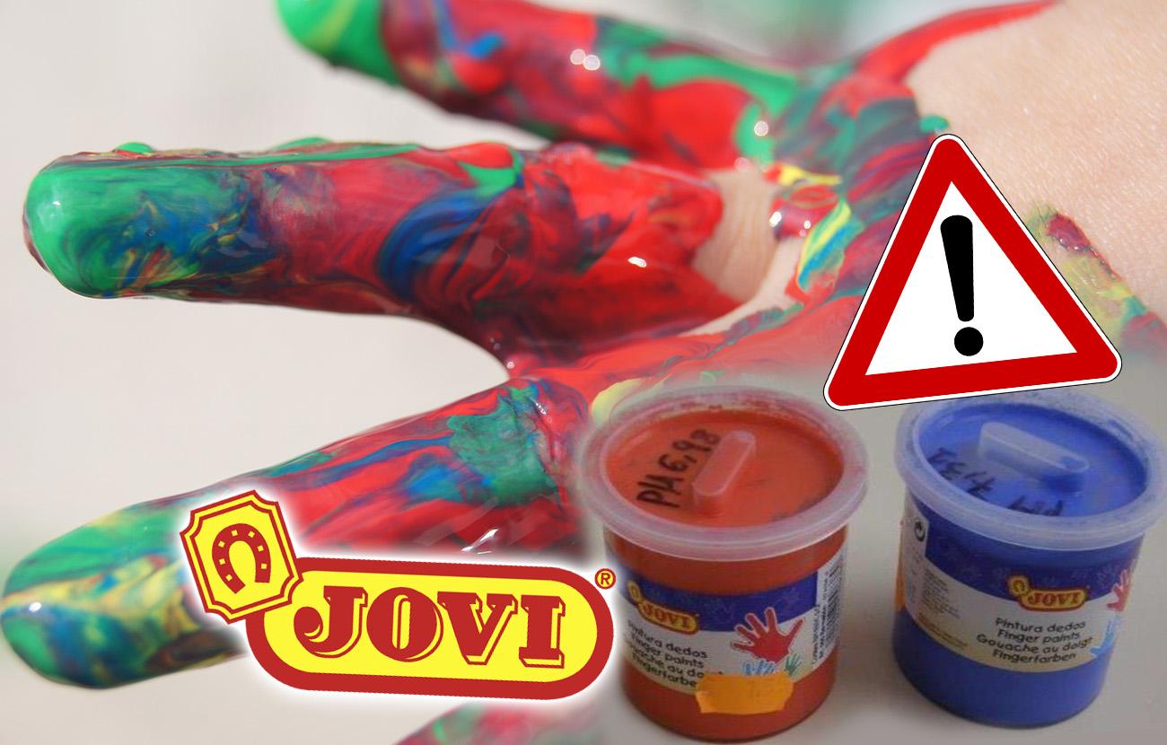 FACUA informa de la orden de retirada de algunas pinturas Jovi para dedos por riesgo de intoxicación