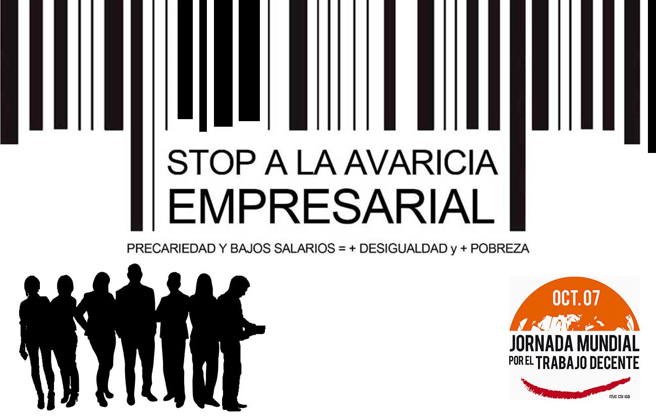 FACUA Andalucía se suma a las concentraciones convocadas por el Día Mundial del Trabajo Decente
