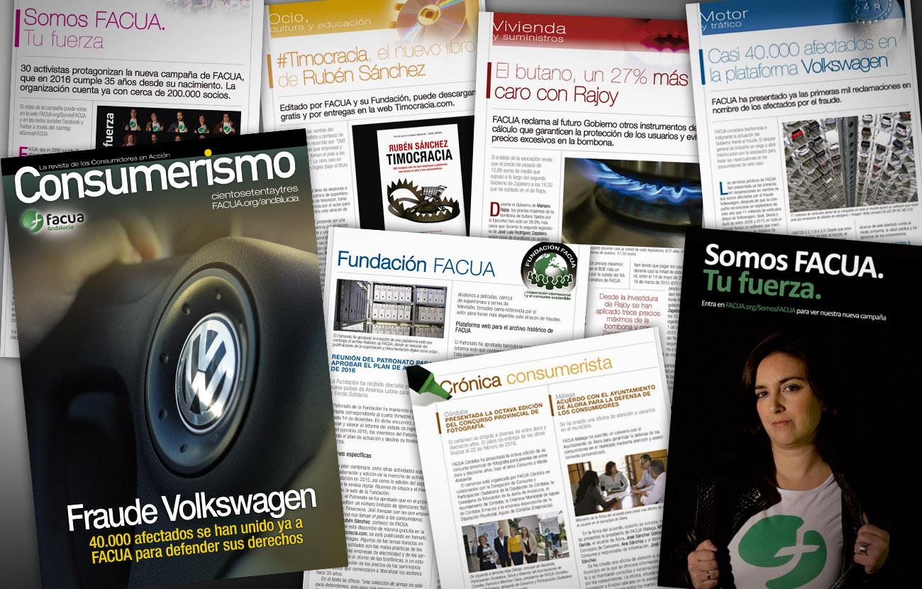 FACUA Andalucía dedica al fraude de Volkswagen el nuevo número de su revista  'Consumerismo'