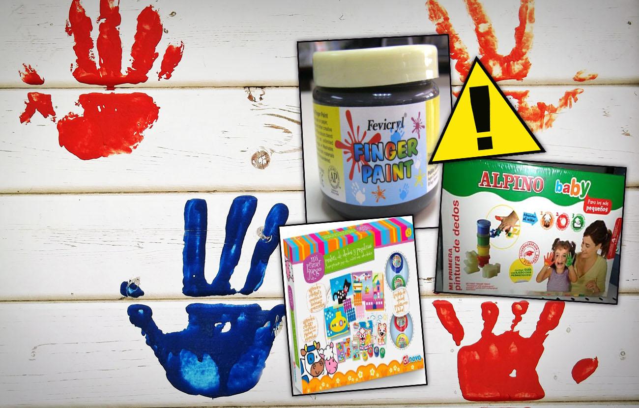 FACUA informa de la retirada de pintura para dedos Alpino, Fevicryl y Dinova por riesgo de intoxicación