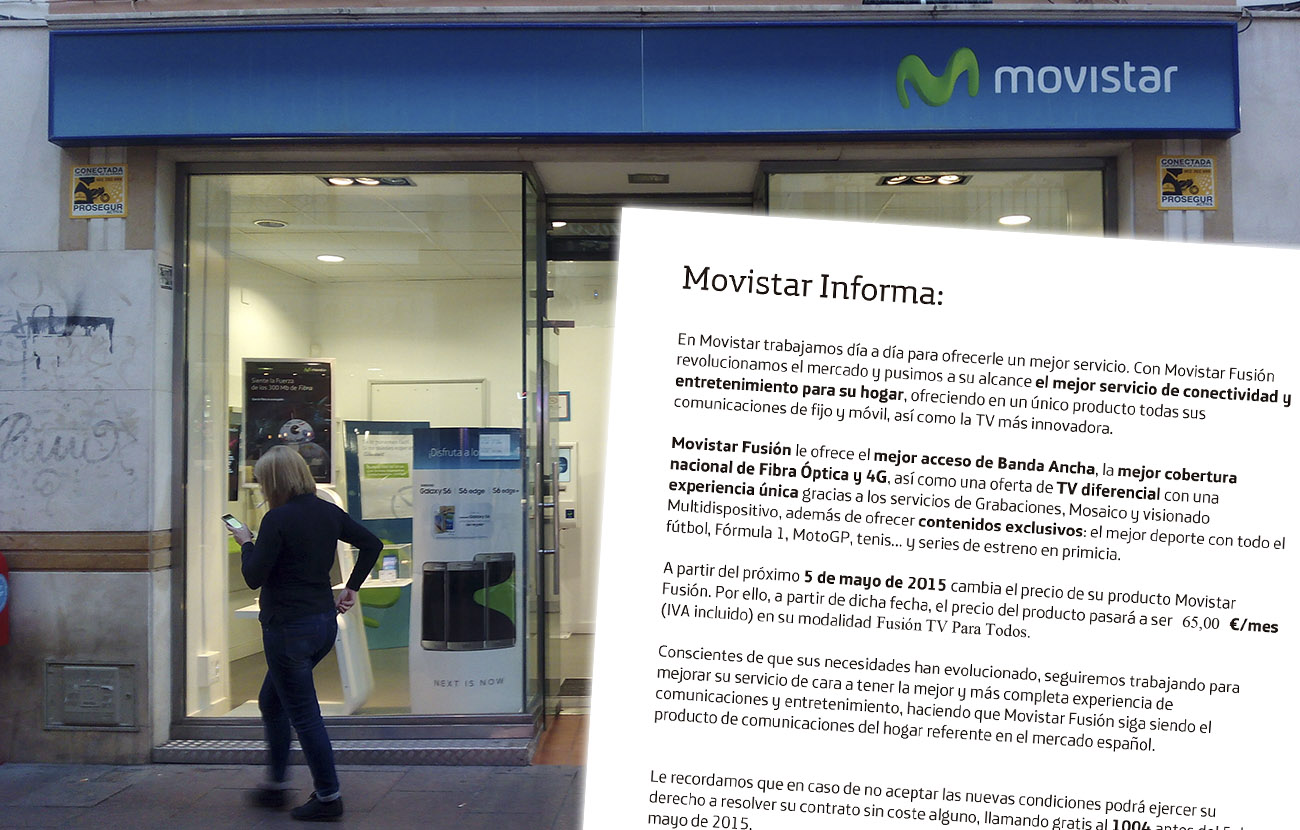 Un juzgado de Segovia anula la subida de tarifas de Movistar Fusión ante la denuncia de un usuario