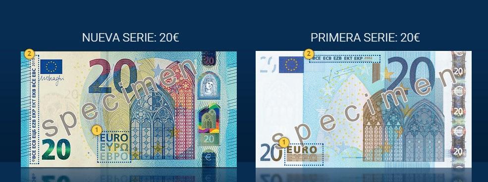 El nuevo billete de 20 euros, en circulación a partir del 25 de noviembre de 2015