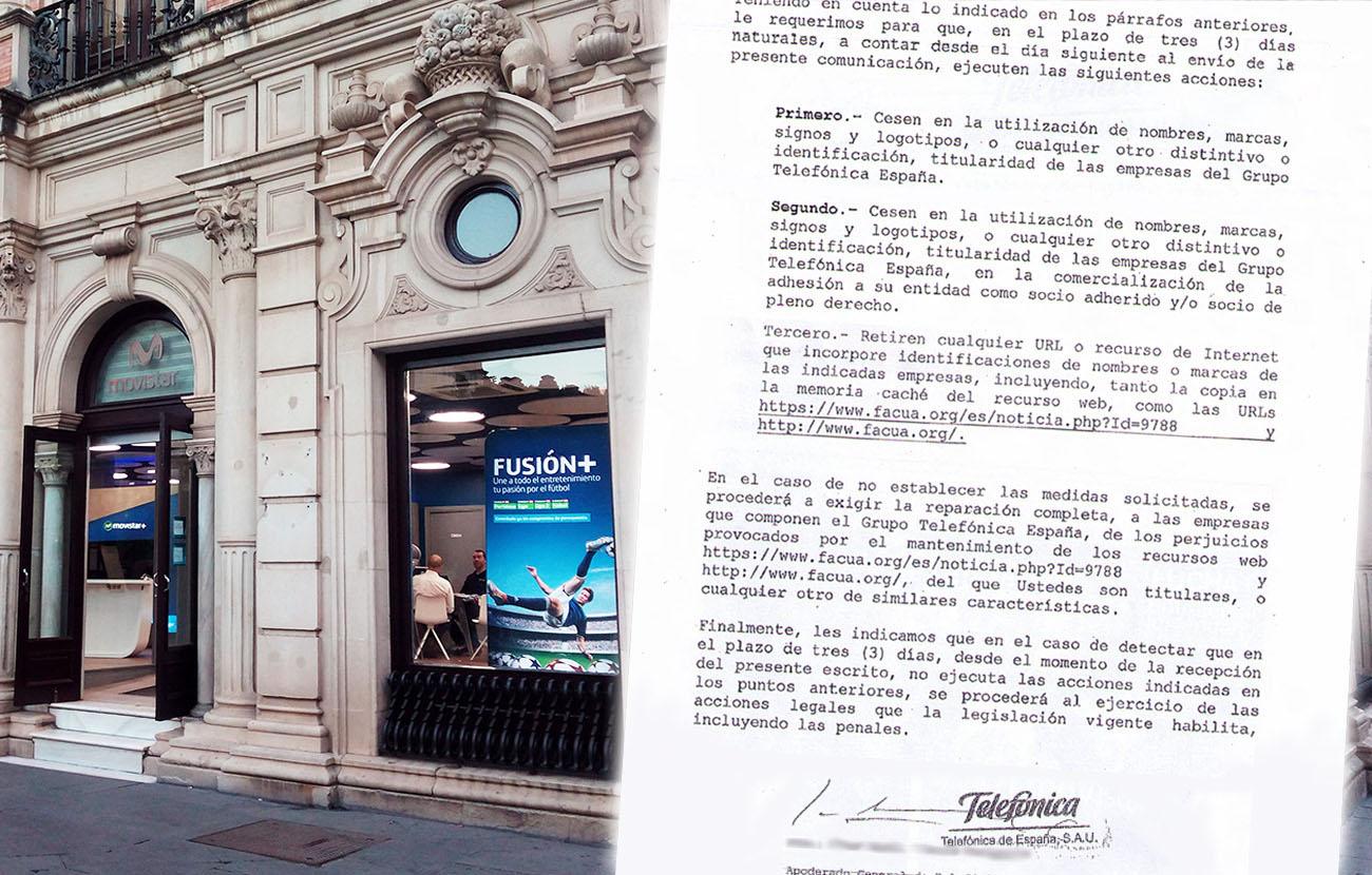 #MovistarNoNosCalla La Junta Directiva de FACUA aprueba por unanimidad no ceder a la amenaza de querella